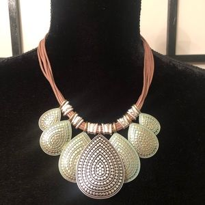 Brown strings necklace